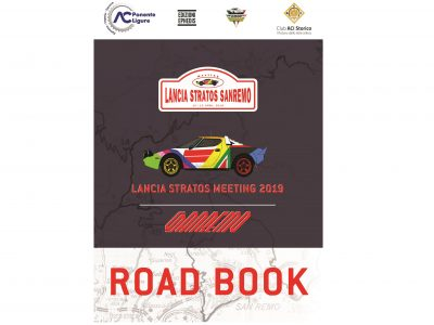 Roadbook of Lancia Stratos Sanremo Meeting 2019